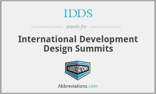 IDDS - International Development Design Summits