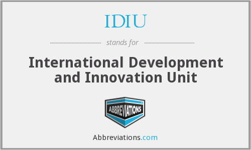 What does IDIU stand for?