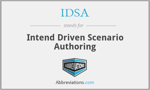 IDSA - Intend Driven Scenario Authoring
