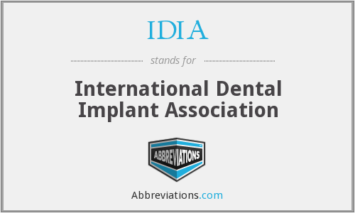 What does IDIA stand for?