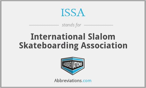 ISSA - International Slalom Skateboarding Association