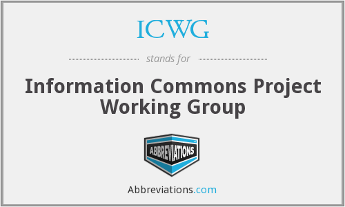 ICWG - Information Commons Project Working Group