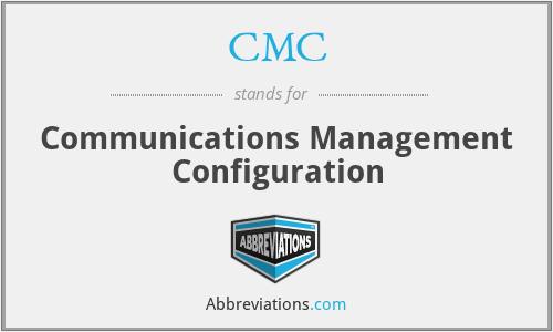 CMC - Communications Management Configuration