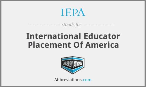 IEPA - International Educator Placement Of America