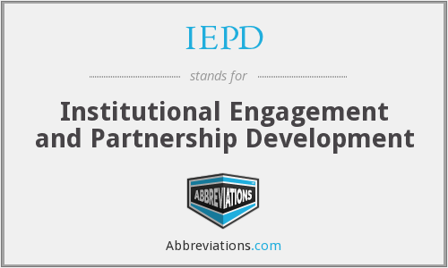 What does IEPD stand for?