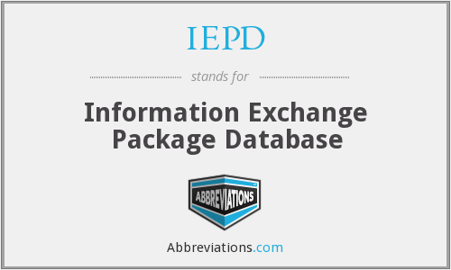 IEPD - Information Exchange Package Database