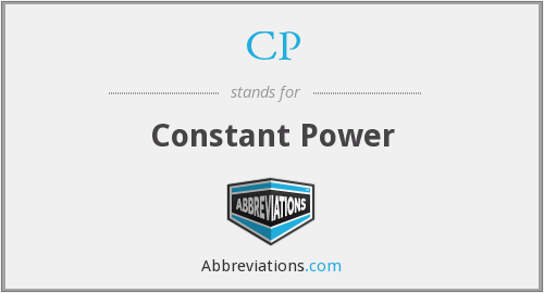 CP - Constant Power