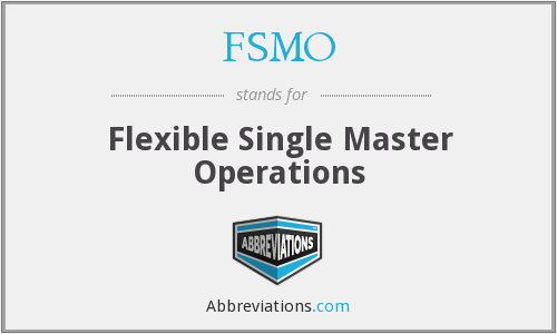 FSMO - Flexible Single Master Operations