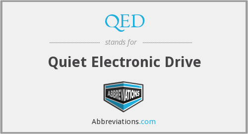 QED - Quiet Electronic Drive