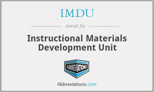 IMDU - Instructional Materials Development Unit