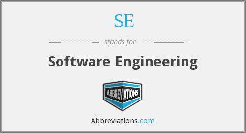 SE - Software Engineering