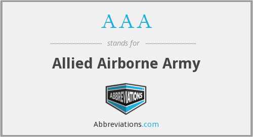 AAA - Allied Airborne Army