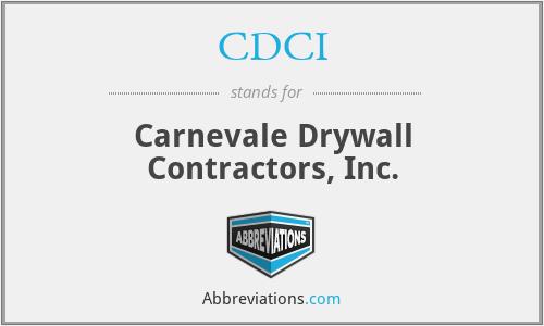 CDCI - Carnevale Drywall Contractors, Inc.