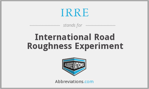 What does IRRE stand for?