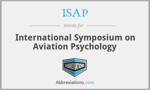 ISAP - International Symposium on Aviation Psychology