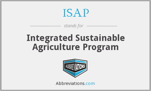 ISAP - Integrated Sustainable Agriculture Program