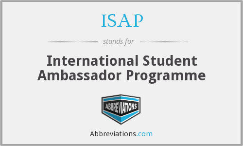 ISAP - International Student Ambassador Programme