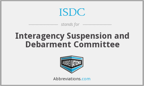What does ISDC stand for?