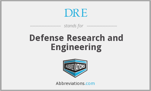 DRE - Defense Research and Engineering