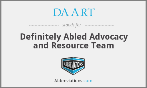 What does DAART stand for?