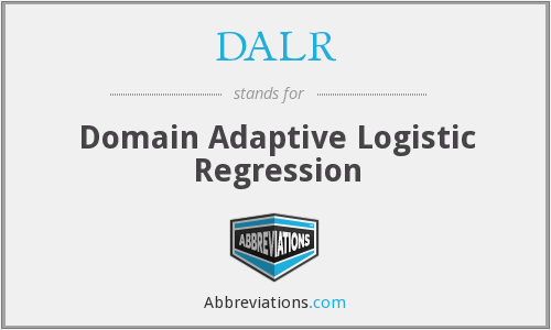 DALR - Domain Adaptive Logistic Regression