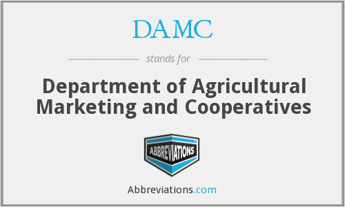 DAMC - Department of Agricultural Marketing and Cooperatives