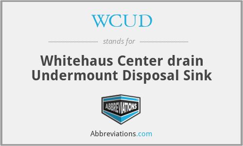 WCUD - Whitehaus Center drain Undermount Disposal Sink