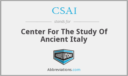 CSAI - Center For The Study Of Ancient Italy