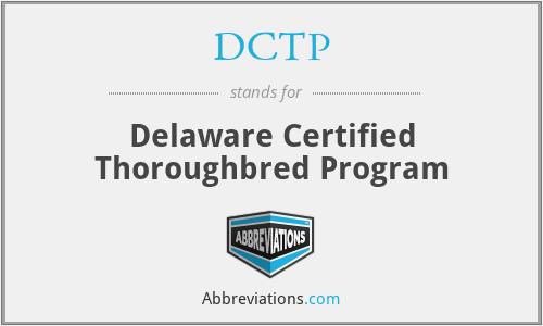 DCTP - Delaware Certified Thoroughbred Program