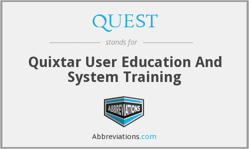QUEST - Quixtar User Education And System Training