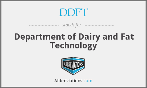 DDFT - Department of Dairy and Fat Technology