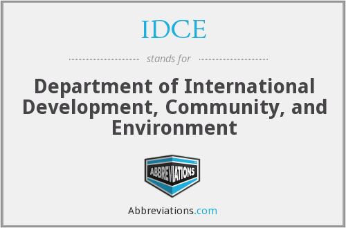 IDCE - Department of International Development, Community, and Environment