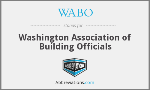 WABO - Washington Association of Building Officials