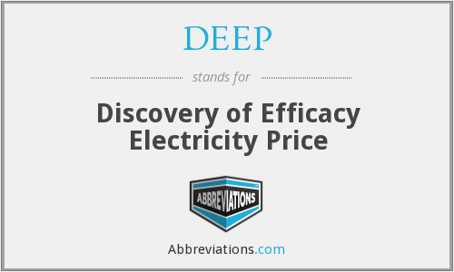 DEEP - Discovery of Efficacy Electricity Price