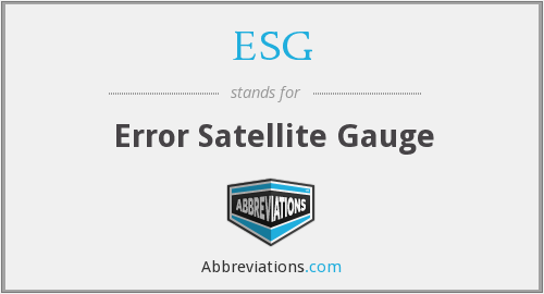 ESG - Error Satellite Gauge