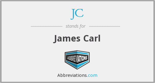 JC - James Carl