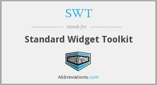 SWT - Standard Widget Toolkit