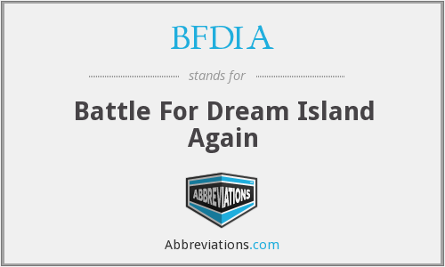 What does BFDIA stand for?