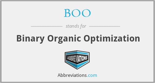 BOO - Binary Organic Optimization