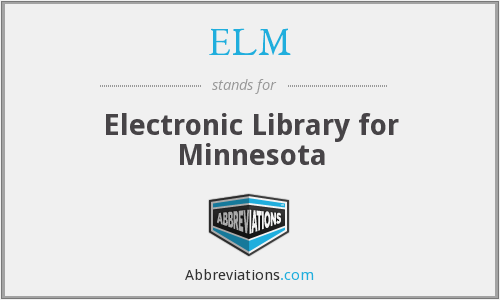 ELM - Electronic Library for Minnesota