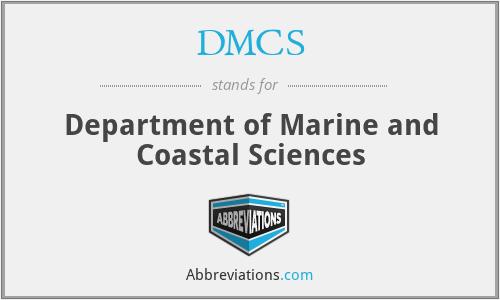DMCS - Department of Marine and Coastal Sciences