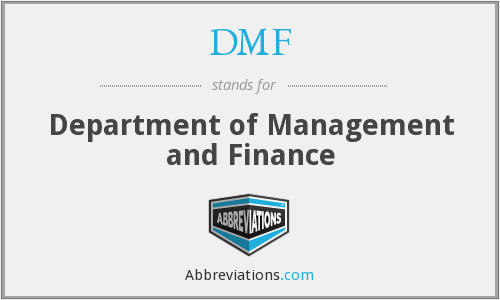 DMF - Department of Management and Finance