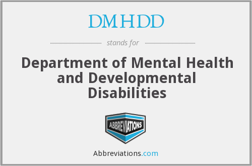 What does DMHDD stand for?