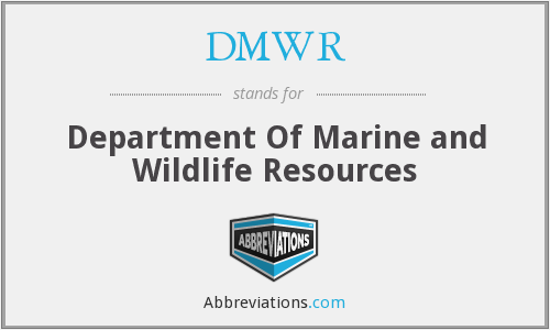 DMWR - Department Of Marine and Wildlife Resources