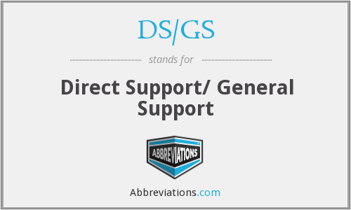 What does DS/GS stand for?