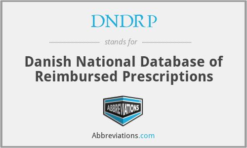 DNDRP - Danish National Database of Reimbursed Prescriptions