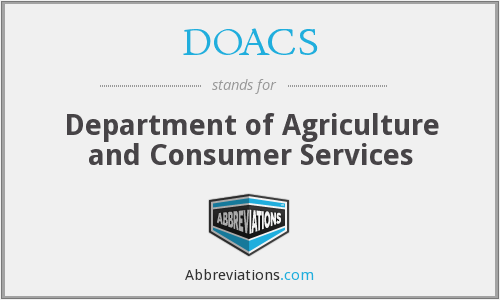 What does DOACS stand for?