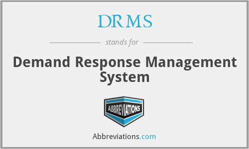 DRMS - Demand Response Management System
