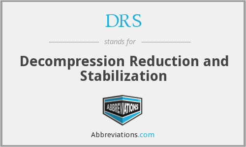 DRS - Decompression Reduction and Stabilization