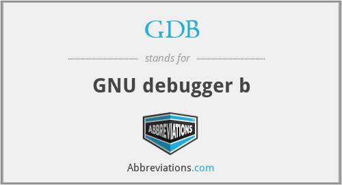 GDB - GNU debugger b